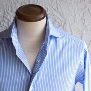 BARBA / DANDY LIFE 【バルバ ダンディーライフ】 コットン ストライプシャツ・mod. NEW BRUNO ・art. LIU736U07476U ・col. blue stripe (ブルー ストライプ)|mandm-website