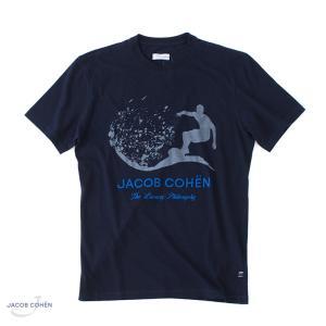 【 SALE30 】 JACOB COHEN【ヤコブコーエン】 J4063 サーフ Tシャツ ・art. 01892L ・col. indigo navy (インディゴネイビー)|mandm-website