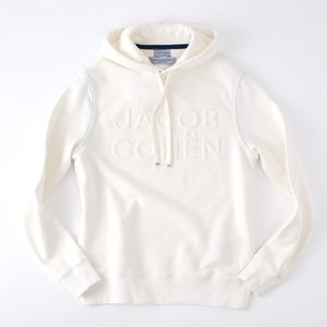 JACOB COHEN【ヤコブコーエン】 J4097 スエットパーカー ・art. 02201L ・col. Bianco (ホワイト) mandm-website