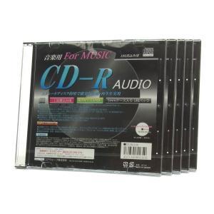 音楽用 CD-R AUDIOディスク 80min 5mmケース プリンタブル 5枚セット SET36...