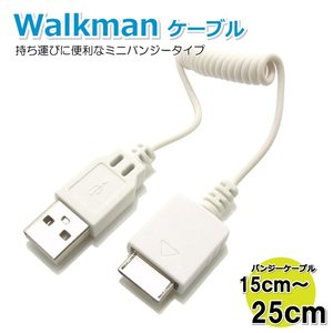 コアウェーブ Walkman USBケーブル ミニバンジー ホワイト CW-133WALK