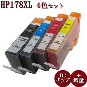HP178/178XLシリーズ CR281AA 対応 互換インク 4色マルチパック 増量版 ICチップ付 残量表示あり manetshop