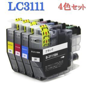 Brother ブラザー LC3111-4PK LC3111シリーズ 対応 互換インク LC3111BK LC3111C LC3111Y LC3111M 4色セット ICチップ付|manetshop