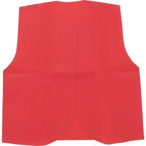 (まとめ)アーテック 衣装ベース 〔J ベスト〕 不織布 レッド(赤) 〔×30セット〕
