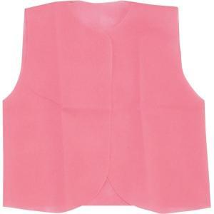 (まとめ)アーテック 衣装ベース 〔J ベスト〕 不織布 ピンク(桃) 〔×30セット〕