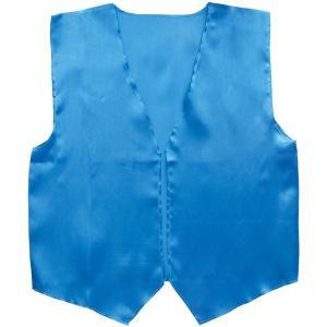 (まとめ)アーテック 衣装ベース 〔サテンベスト〕 大 ブルー(青) 〔×15セット〕