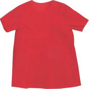 (まとめ)アーテック 衣装ベース 〔S シャツ〕 不織布 レッド(赤) 〔×30セット〕