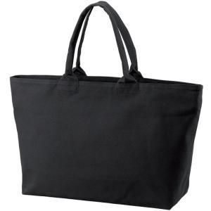 【商品名】 ヘビーウェイト綿キャンパス ジッパー付25L容量大型エコトートバック ブラック/黒   ...