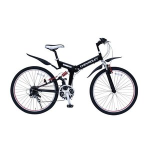 折りたたみ自転車 CHEVROLET WサスFD-MTB26 18SE 26インチ シマノ18段変速...