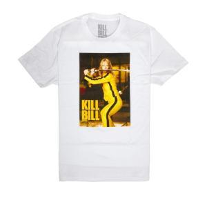 映画キル・ビルのデザインで定番のユマ・サーマンのデザインTシャツ バトル ブライド(戦う花嫁) ホワ...