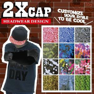 2XCAP キャップシール ヘッドウェアデザイン キャップバイザーカスタムステッカー|maniac