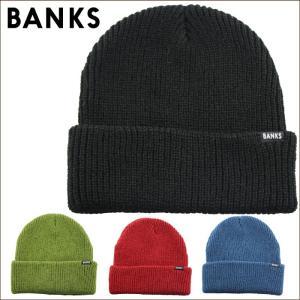日本正規代理店品 BANKS バンクス メンズ 帽子 BE0013 STAPLE BEANIE maniac
