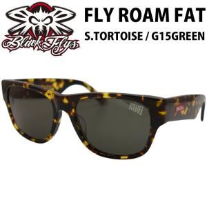 BLACK FLYS ブラックフライズ サングラス スクエア FLY ROAM FAT S.TORTOISE / G15GREEN|maniac