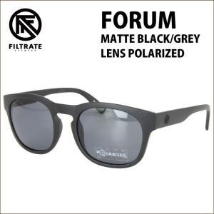 FILTRATE フィルトレイト サングラス FORUM フォーラム MATTE BLACK/GREY|maniac