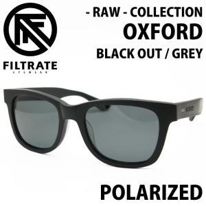 FILTRATE フィルトレイト サングラス RAW - OXFORD オックスフォード BLACK OUT / GREY POLARIZED|maniac