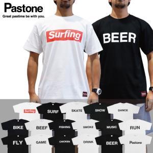 Pastone パストーン メンズ Tシャツ 半袖 プリント ロゴTシャツ 文字Tシャツ 白 ホワイト 黒 ブラック|maniac