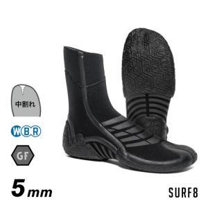 SURF8 サーフエイト サーフブーツ 80F1G3 5mmスプリットソールブーツ グラフェンブラック起毛 5mmブーツ サーフ8|maniac