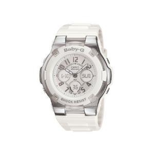 腕時計 カシオ レディース BGA110-7B Casio Women's BGA110-7B Baby-G Shock-Resistant White Sport Watch|maniacs-shop