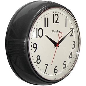 Westclox 壁掛け時計 1950年代のレトロなブラックケース 9.5インチ ラウンド形|maniacs-shop