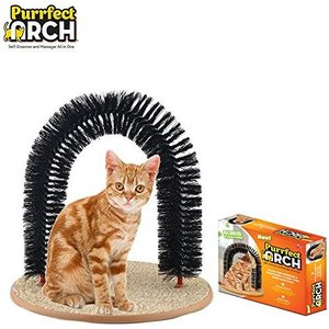 猫おもちゃ ネコ ねこ PR011106 Purrfect Arch Deluxe Self Grooming and Massaging Cat Toy- Arch Brush He|maniacs-shop