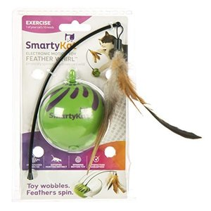 猫おもちゃ ネコ ねこ 09621 SmartyKat Feather Whirl Electronic Motion Cat Toy, As Seen On TV (9621), g|maniacs-shop