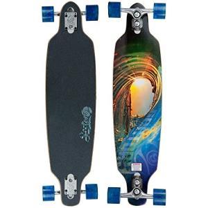 セクター9 ロングスケートボード スケボー SF124C Sector 9 Fractal Complete Skateboard, 9.0 x 3 maniacs-shop