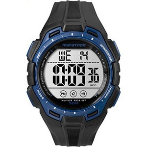 腕時計 タイメックス メンズ TW5K94700 Marathon by Timex Men's TW5K94700 Digital Full-Size Black/Blu|maniacs-shop