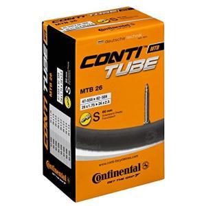 チューブ パーツ 自転車 CTU126 Continental MTB Presta Valve Inner Tube - Black, (26 X 1.5 - 2.125 Inc|maniacs-shop