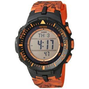 腕時計 カシオ メンズ PRG-300CM-4CR Casio Men's PRG-300CM-4CR Pro Trek Triple Sensor Tough Solar Digit|maniacs-shop