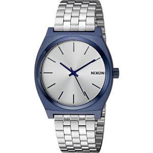 腕時計 ニクソン アメリカ Nixon Unisex Time Teller Navy/Silver One Size|maniacs-shop
