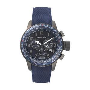 腕時計 ノーティカ メンズ NAPGLY001 Nautica Men's Galley Stainless Steel Quartz Watch with Silicone|maniacs-shop