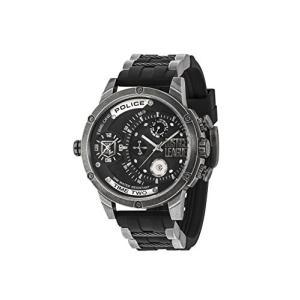 腕時計 ポリス メンズ 14536JQ02P Police Mens Multi dial Quartz Watch with Silicone Strap 14536JQ02P|maniacs-shop