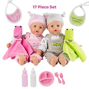 アドラベビードール 赤ちゃん リアル 218305 Adora Twin Baby Dolls, Later Alligator Twins Gift Se|maniacs-shop
