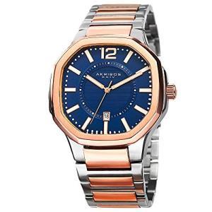 腕時計 アクリボスXXIV メンズ AK712TTR Akribos XXIV Octagonal Men's Watch - Layered Blue Dial With D|maniacs-shop