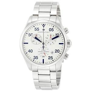 腕時計 ハミルトン メンズ H76712151 Hamilton Khaki Pilot Chronograph Silver Dial Men's Watch H767121|maniacs-shop