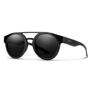 スミス スポーツ 釣り 201270807501C Smith Range Round Sunglasses, Black/ChromaPop Black, One Size maniacs-shop