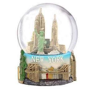 スノーグローブ 雪 置物 WG224 Mini New York City Snow Globe Featuring The NYC Skyline in This Souveni maniacs-shop