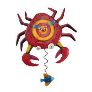 壁掛け時計 振り子時計 インテリア P1042 Allen Designs Crabby Pendulum Clock|maniacs-shop