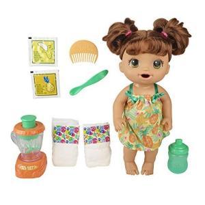 ベビーアライブ Baby Alive マジカルミキサー トロピカル模様の服やミキサー ベビードール(ブラウンヘア) 食べたり飲んだり、オムツ替えができる|maniacs-shop