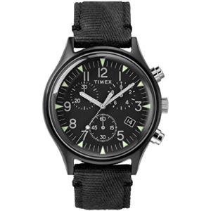 腕時計 タイメックス メンズ TW2R68700 Timex MK1 Steel Chronograph 42 mm Black Dial Watch TW2R68700|maniacs-shop