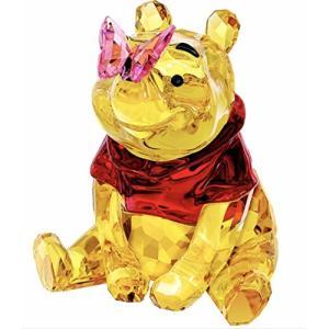 スワロフスキー クリスタル 置物 5282928 Swarovski Winnie the Pooh with Butterfly 5282928|maniacs-shop