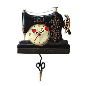 壁掛け時計 振り子時計 インテリア P1752 Allen Designs Vintage Stitch Sewing Machine Pendulum Wal|maniacs-shop
