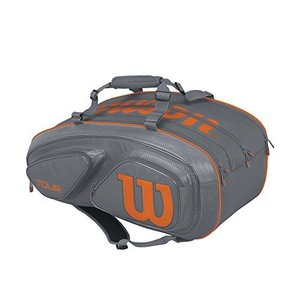 テニス バッグ ラケットバッグ WRZ841715 Wilson Tour V 15 Pack Tennis Bag, Grey/Orange|maniacs-shop
