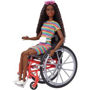 バービー Barbie ファッショニスタ166 車椅子とクリンプブルネットの髪 GRB94 22の関節があるのであらゆる種類の動きが可能|maniacs-shop