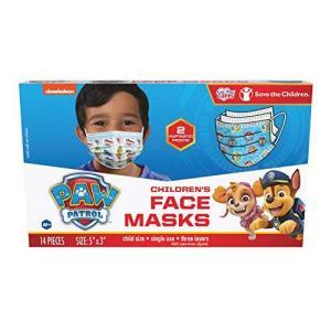パウパトロール 子ども用マスク 14枚入り 2パターン 使い捨てマスク 2-7歳くらいの子供用|maniacs-shop