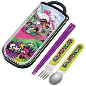 食洗機対応スライド式トリオセット(名入れスペース付お箸) 【スプラトゥーン 2】|maniacs-shop