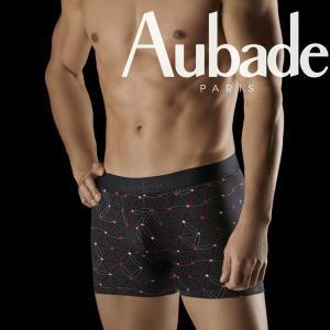 【M】サイズ Aubade メンズボクサーパンツ  BAHIA ☆フランス オーバドゥ Boise de Rose  ☆ピンクがキュートなボクサー |manifica