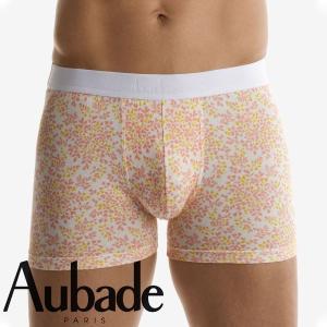 【M】サイズ Aubade メンズボクサーパンツ  Bahiaコレクション ☆フランス オーバドゥ ☆フレッシュなパステルカラーのメンズボクサー 男性下着|manifica