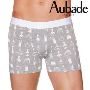 【M】サイズ Aubade メンズボクサーパンツ  PERFUME ☆フランス オーバドゥ ☆香水プリントがキュートなボクサー |manifica