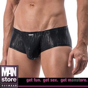 ラメが煌く ローライズボクサー ブラック☆ドイツ製 MANSTORE(マンストア)☆M556シリーズ☆Hot Pants Black|manifica